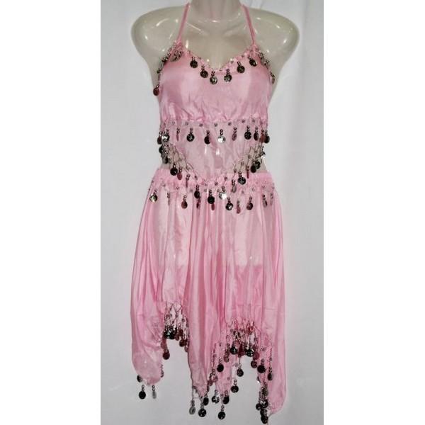 disfraz danza del vientre falda rosa - DANZA DEL VIENTRE ROSA MUJER