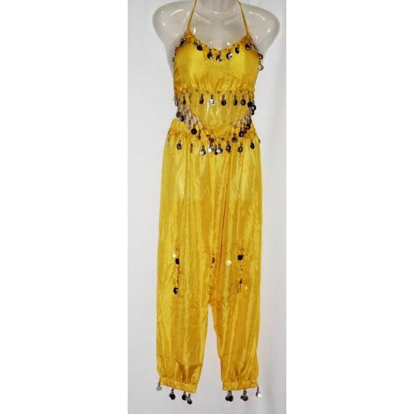 disfraz danza del vientre pantalon amarillo - DANZA DEL VIENTRE AMARILLO MUJER