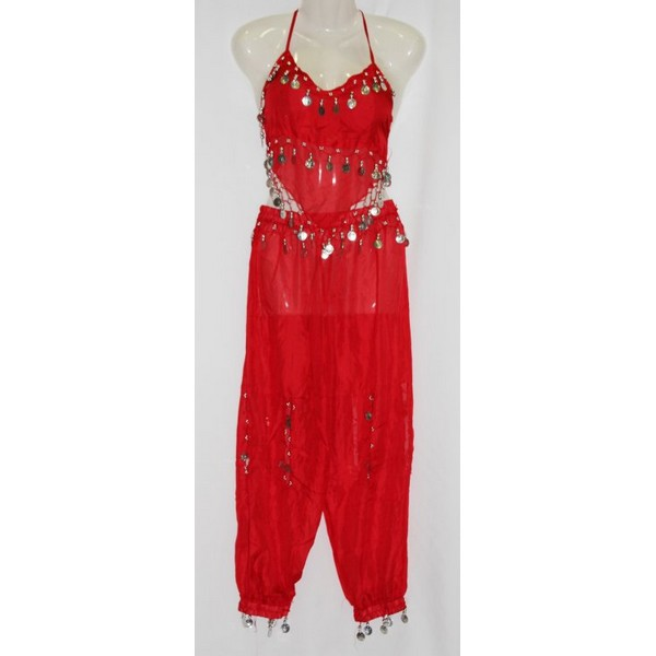 disfraz danza del vientre rojo infantil - DISFRAZ  DANZA DEL VIENTRE ROJO NIÑA
