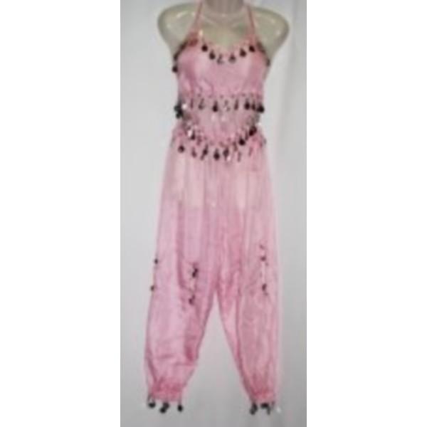disfraz danza del vientre rosa infantil - DISFRAZ DANZA DEL VIENTRE ROSA NIÑA