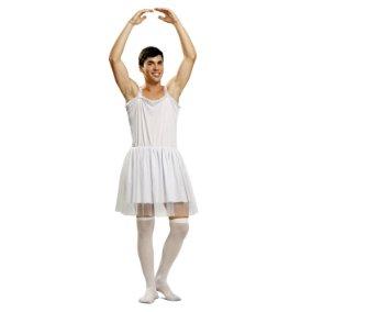 disfraz de bailarina blanco hombre - DISFRAZ DE BAILARINA BLANCO PARA HOMBRE