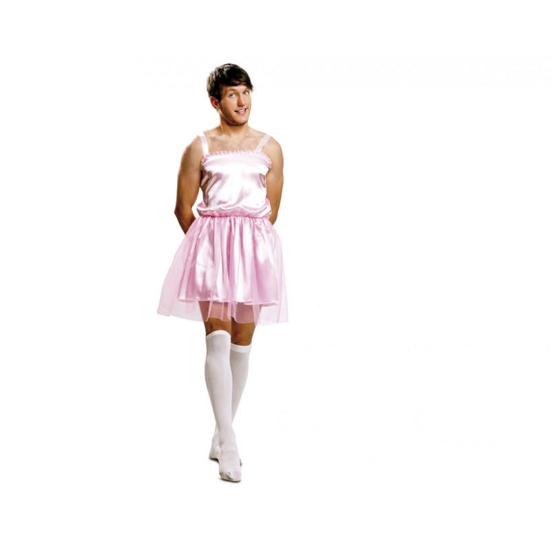 disfraz de bailarina rosa hombre disfraces adultos - DISFRAZ DE BAILARINA ROSA HOMBRE