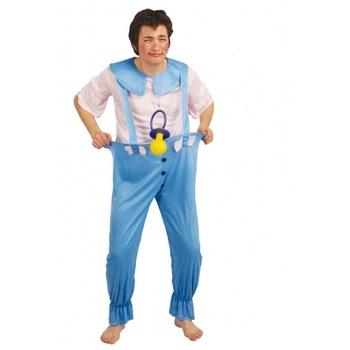 disfraz de bebé azul hombre - DISFRAZ DE BEBE AZUL HOMBRE