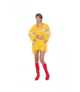 disfraz de bombera de amarillo para mujer - DISFRAZ DE BOMBERA TOP MUJER