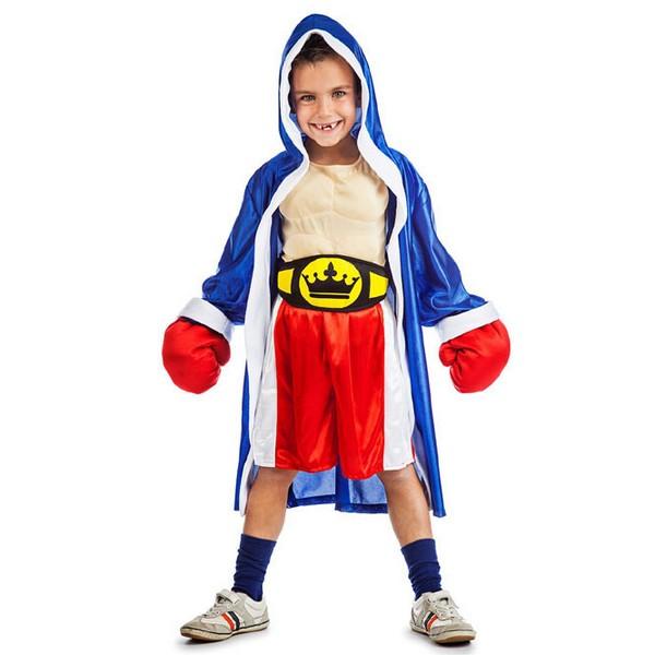 disfraz de boxeador musculoso con guantes infantil - DISFRAZ DE BOXEADOR MUSCULOSO NIÑO