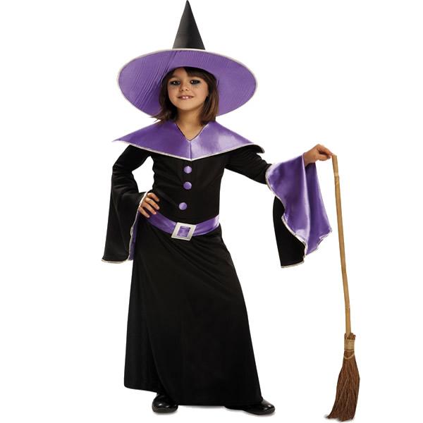 disfraz de bruja morada ninas varias tallas para halloween egl00026 1 - DISFRAZ DE BRUJA MORADA INFANTIL