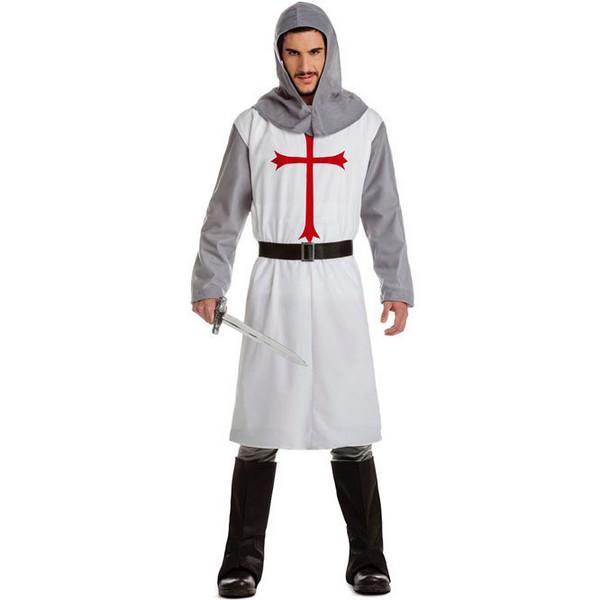 disfraz de caballero cruzado blanco adulto - DISFRAZ DE CRUZADO BLANCO MEDIEVAL HOMBRE