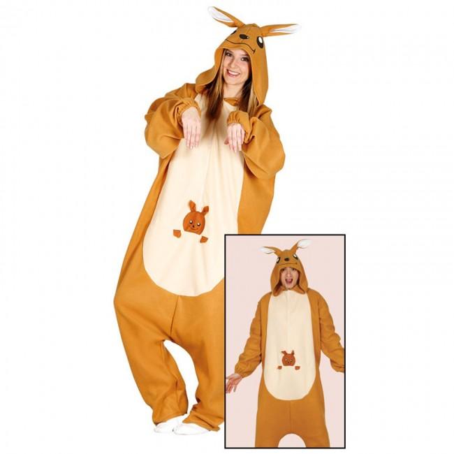 disfraz de canguro kigurumi adulto - DISFRAZ DE CANGURO KIGURUMY