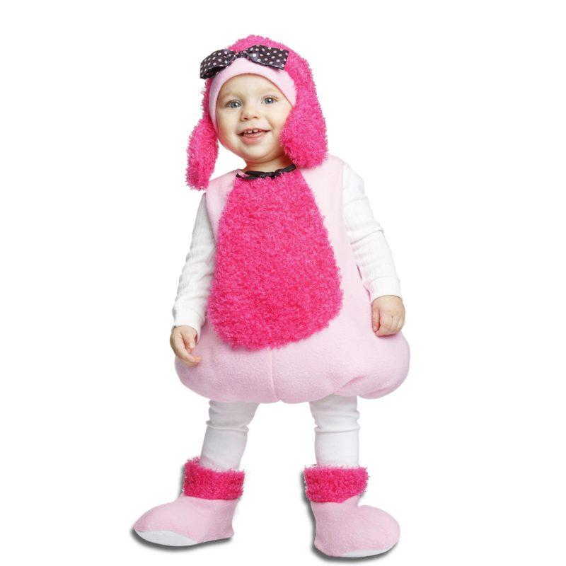 disfraz de caniche rosa infantil 800x800 - DISFRAZ DE PEQUEÑA CANICHE PELUCHE ROSA BEBE