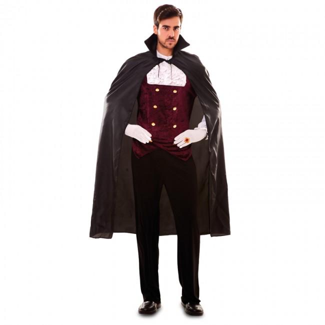 disfraz de capa negra vampiro adulto - CAPA NEGRA ADULTO