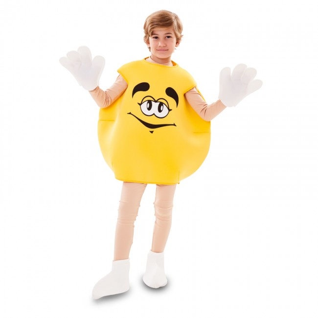 disfraz de caramelo amarillo infantil - DISFRAZ DE CARAMELO DULCE AMARILLO INFANTIL