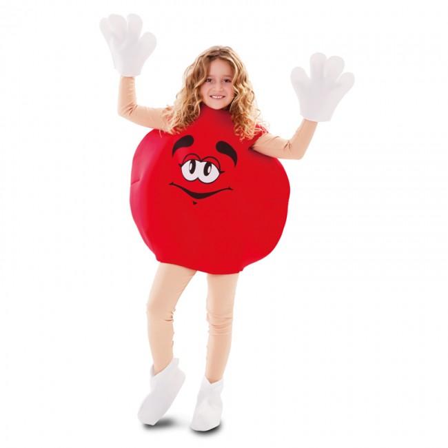 disfraz de caramelo rojo infantil 1 - DISFRAZ DE CARAMELO DULCE ROJO INFANTIL