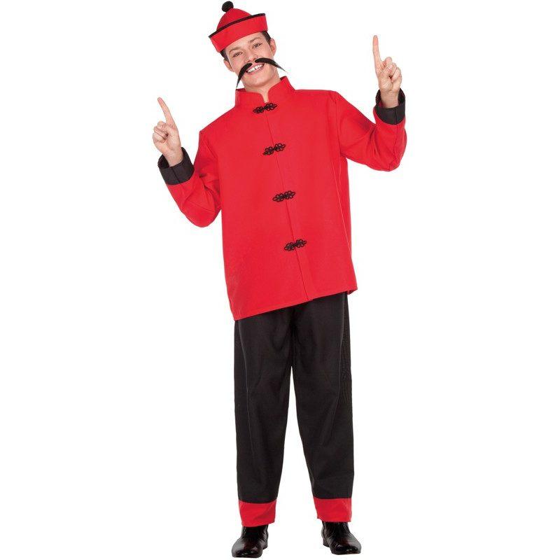 disfraz de chino rojo y negro para hombre 800x800 - DISFRAZ DE CHINO HOMBRE