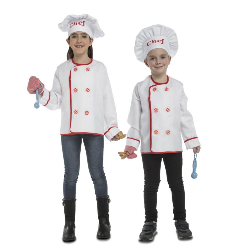 disfraz de cocinero infantil 800x800 - DISFRAZ DE COCINERO UNISEX INFANTIL