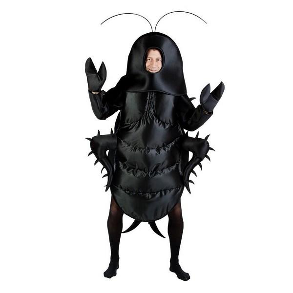 disfraz de cucaracha adulto 1 - DISFRAZ DE CUCARACHA NEGRO ADULTO