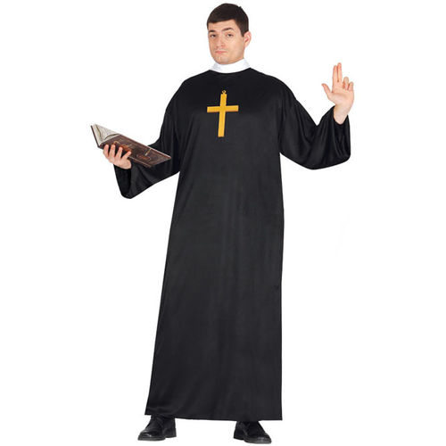 disfraz de cura sotana para adulto - DISFRAZ DE CURA HOMBRE