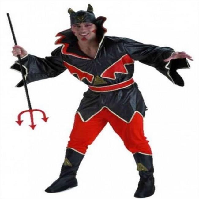 disfraz de diablo hombre - DISFRAZ DE DEMONIO CUERO HOMBRE