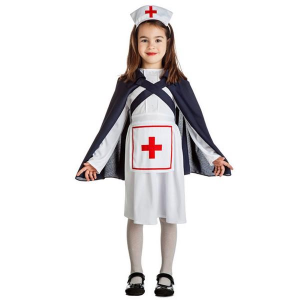 disfraz de enfermera clasica para nina 1 1 - DISFRAZ DE ENFERMERA CON CAPA NIÑA