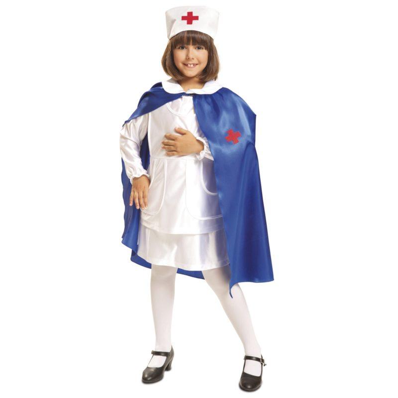 disfraz de enfermera con capa niña 800x800 - DISFRAZ DE ENFERMERA CON CAPA NIÑA
