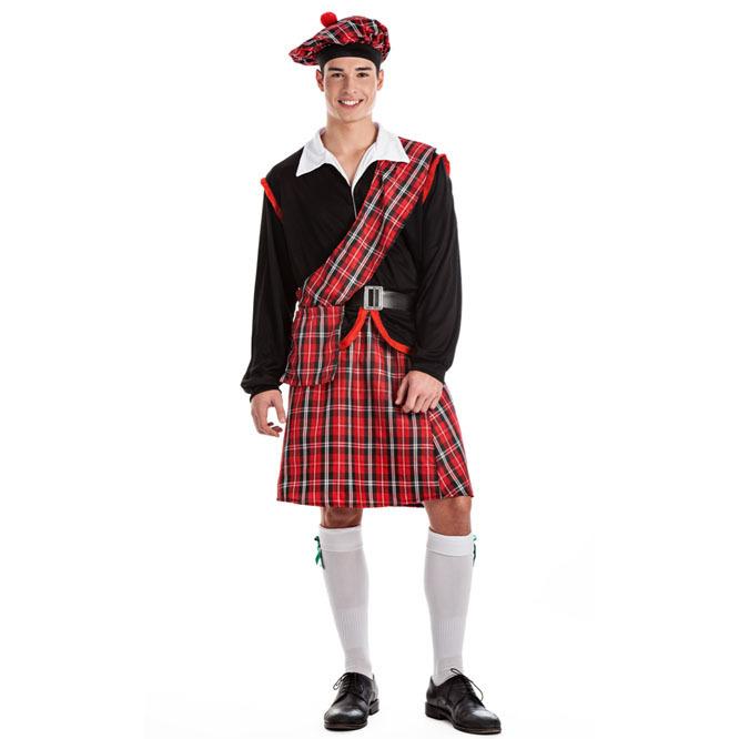 disfraz de escoces para adulto  - DISFRAZ DE ESCOCES PARA HOMBRE