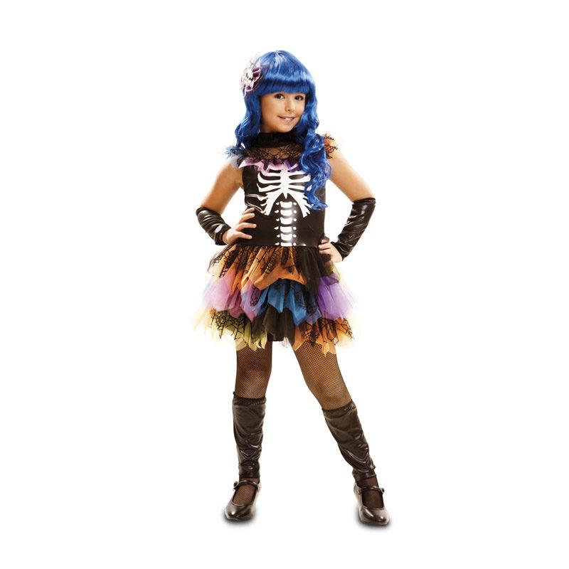 disfraz de esqueleto arco iris para ninas en varias tallas para halloween 62698 800x800 - DISFRAZ DE ESQUELETO ARCO IRIS NIÑA