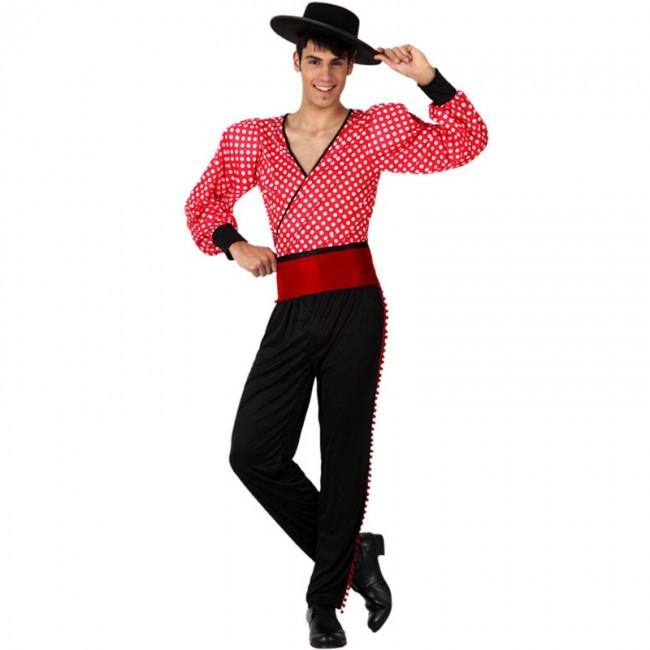 disfraz de flamenco rojo para hombre - DISFRAZ DE FLAMENCO ROJO HOMBRE