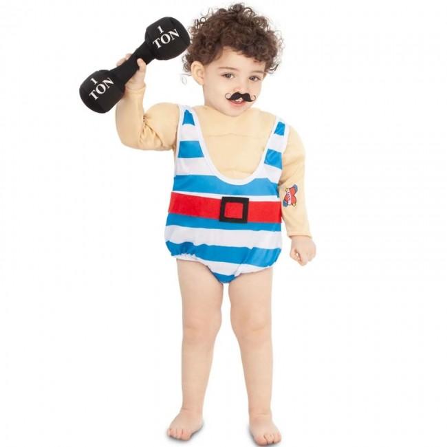 disfraz de forzudo circo para bebe - DISFRAZ DE FORZUDO BEBÉ