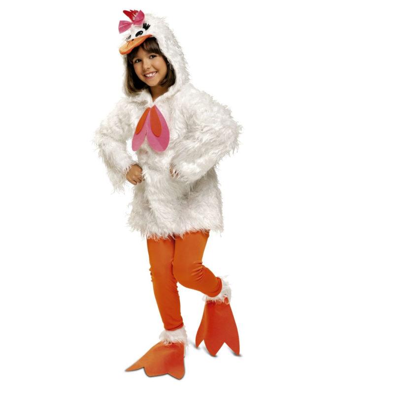 disfraz de gallina niña 1 800x800 - DISFRAZ DE GALLINA LUJO NIÑA