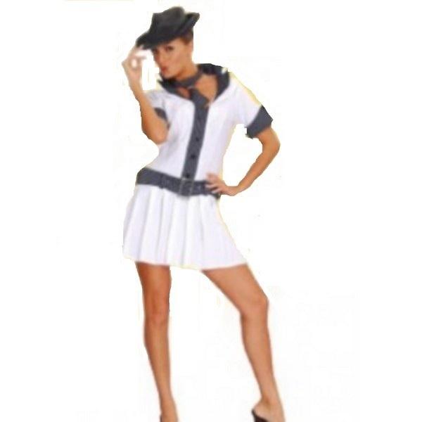 disfraz de ganster blanco mujer - DISFRAZ GANSTER BLANCO MUJER