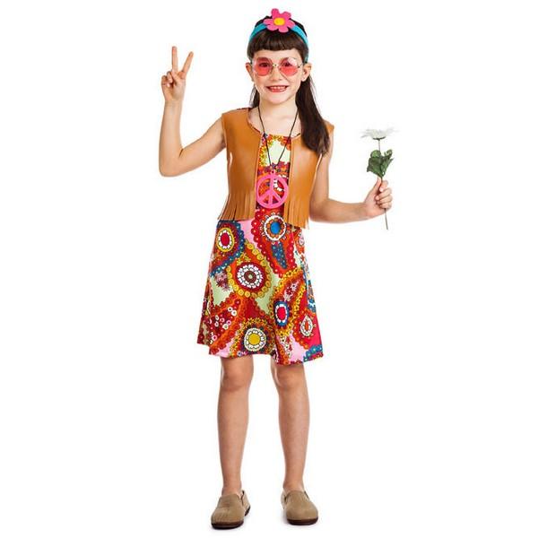 disfraz de hippie chaleco para nina - DISFRAZ DE HIPPIE CHALECO NIÑA
