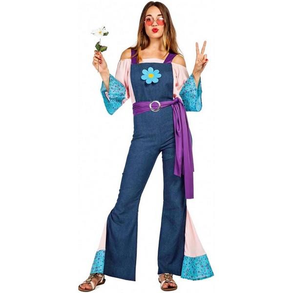 disfraz de hippie flor para mujer - DISFRAZ DE HIPPIE FLOR MUJER