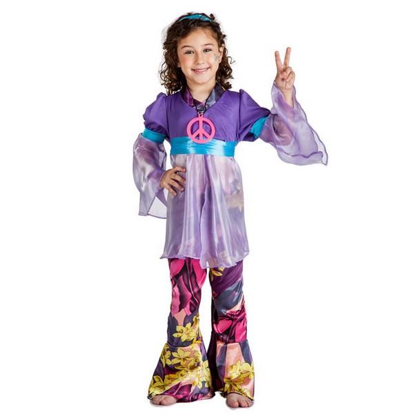 disfraz de hippie lila para nina - DISFRAZ DE HIPPIE LILA NIÑA