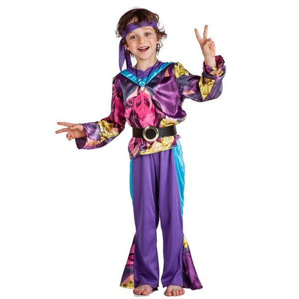 disfraz de hippie lila para nino - DISFRAZ DE HIPPIE LILA NIÑO