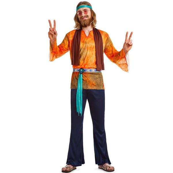 disfraz de hippie naranja hombre - DISFRAZ DE HIPPIE NARANJA PARA HOMBRE