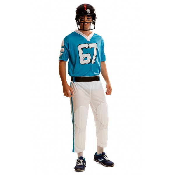 disfraz de jugador de rugby azul - DISFRAZ DE RUGBY AZUL