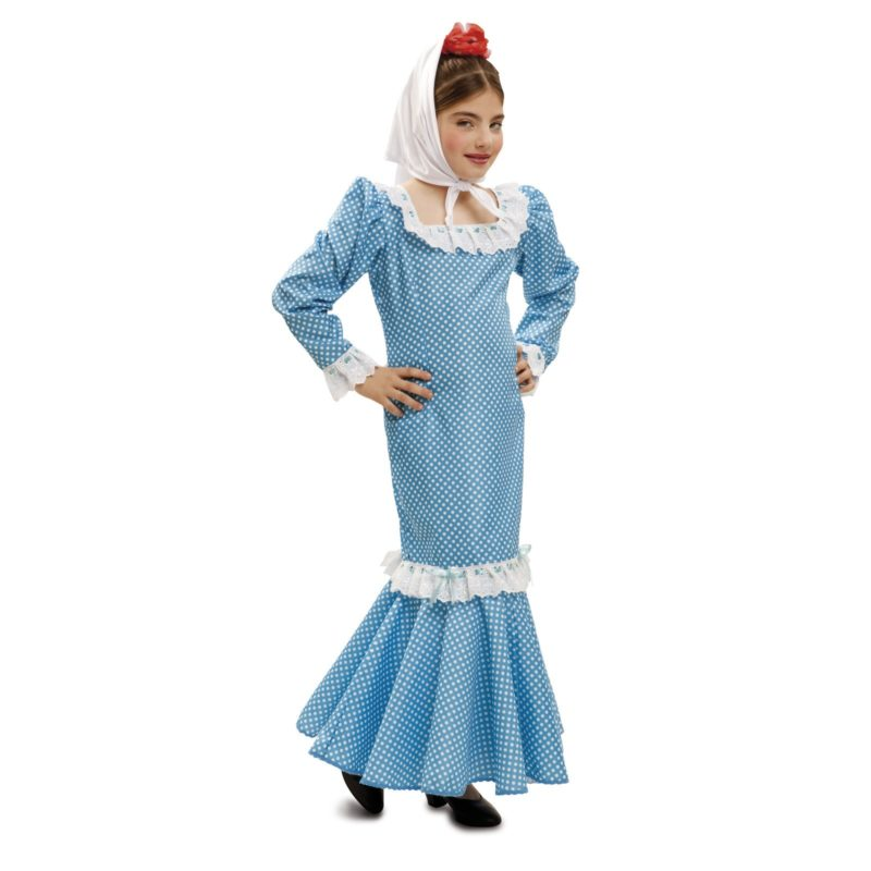 disfraz de madrileña azul infantil 800x800 - DISFRAZ DE MADRILEÑA AZUL NIÑA