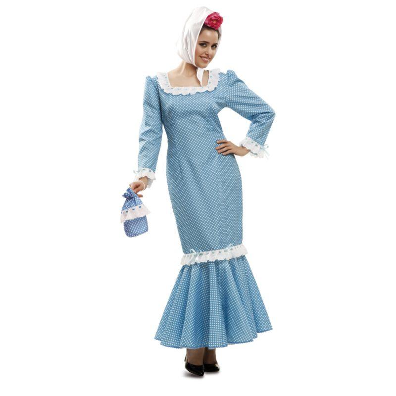 disfraz de madrileña azul mujer 800x800 - DISFRAZ DE MADRILEÑA AZUL MUJER