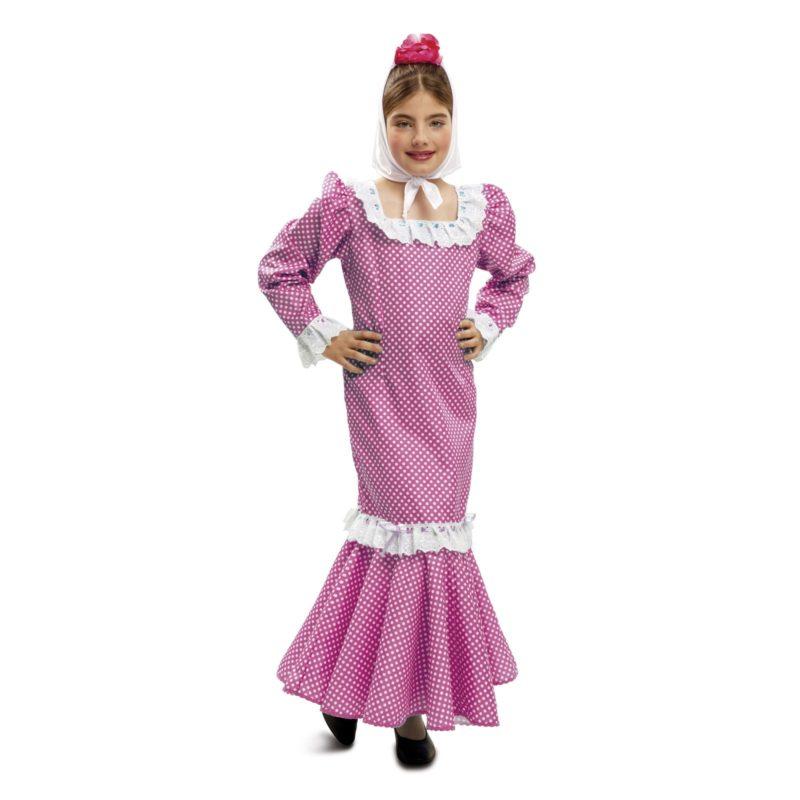 disfraz de madrileña rosa infantil 800x800 - DISFRAZ DE MADRILEÑA ROSA NIÑA