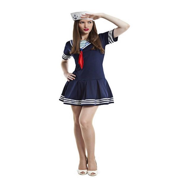 disfraz de marinera azul para mujer k0097 1 - DISFRAZ DE MARINERA AZUL MUJER