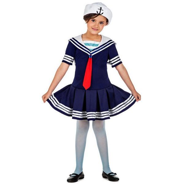 disfraz de marinera para nina - DISFRAZ DE MARINERA AZUL NIÑA