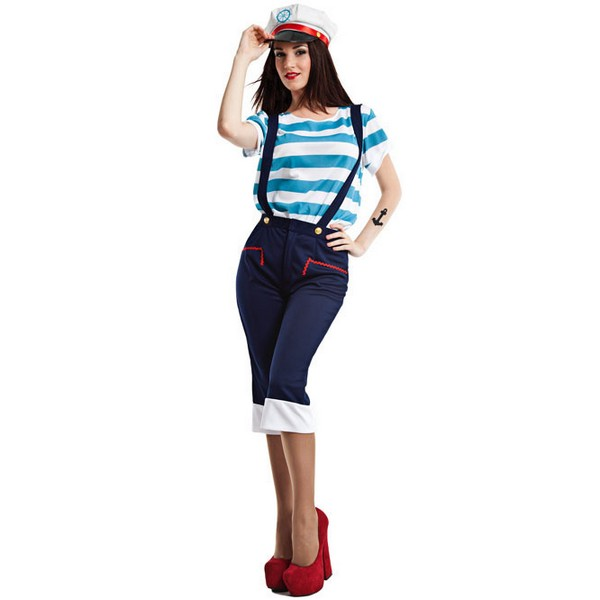 disfraz de marinera pescadora para mujer - DISFRAZ MARINERA TIRANTES MUJER