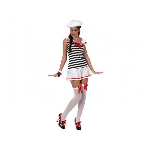 disfraz de marinera sexy talla 1 - DISFRAZ DE MARINERA BLANCA MUJER