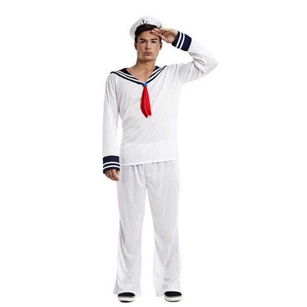 disfraz de marinero blanco para hombre k0304 1 - DISFRAZ DE MARINERO HOMBRE