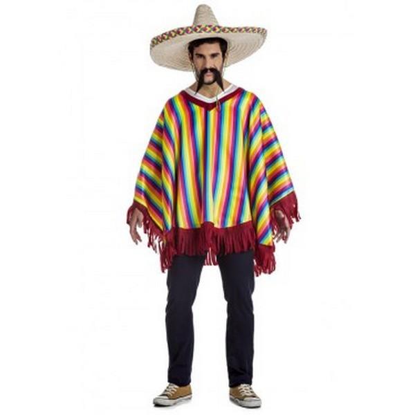 disfraz de mexicano para hombre 1 - DISFRAZ PONCHO MEJICANO ADULTO