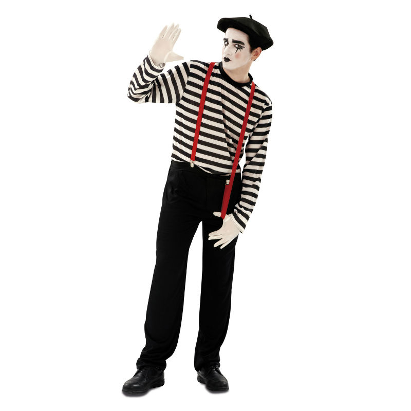 disfraz de mimo hombre - DISFRAZ DE MIMO HOMBRE