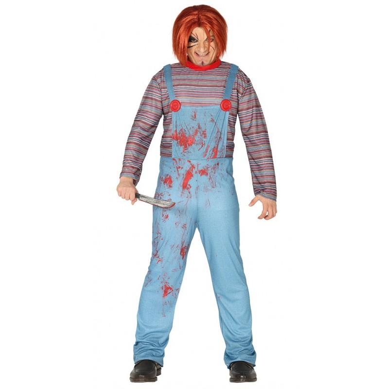 disfraz de muneco asesino adulto - DISFRAZ DE MUÑECO DIABÓLICO ADULTO