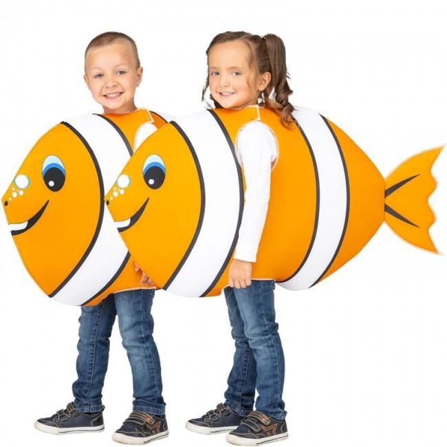 disfraz de pez naranja para ninos - DISFRAZ DE PEZ PAYASO NARANJA INFANTIL