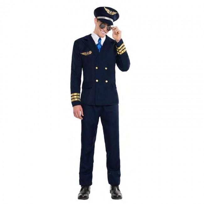 disfraz de piloto avion para hombre - DISFRAZ DE PILOTO VUELO HOMBRE