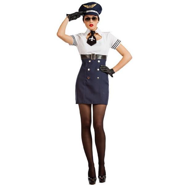 disfraz de piloto de aviacion mujer - DISFRAZ DE AZAFATA DE VUELO MUJER