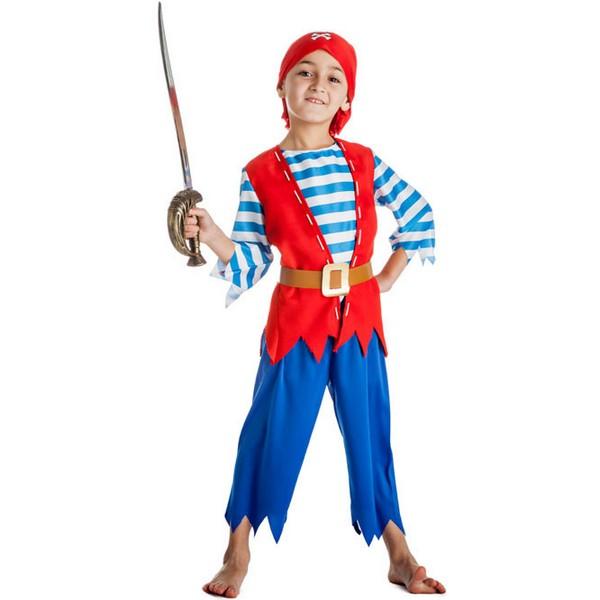 disfraz de pirata azul bebé 1 - DISFRAZ DE PIRATA AZUL BEBÉ NIÑO